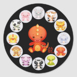Chinese Zodiac Year of the Dragon 2012 Stickers