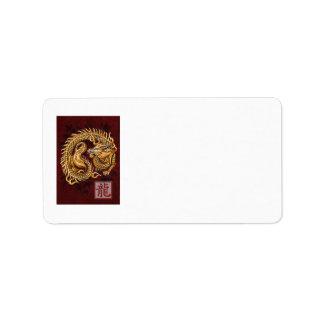 Chinese Zodiac Year of the Dragon Address Label