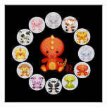 Chinese Zodiac Year of the Dragon Poster