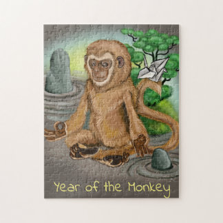 Chinese Zodiac Year of the Monkey Jigsaw Puzzle