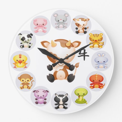 Chinese Zodiac Year of the Ox Clocks
