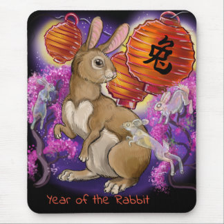Chinese Zodiac Year of the Rabbit Mouse Mat