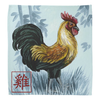 Chinese Zodiac Year of the Rooster Bandana