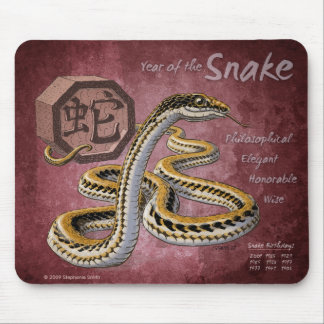 Chinese Zodiac Year of the Snake Art Mouse Mat