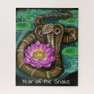 Chinese Zodiac Year of the Snake Jigsaw Puzzle
