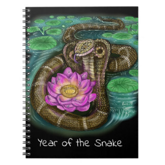 Chinese Zodiac Year of the Snake Notebook