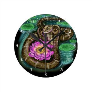 Chinese Zodiac Year of the Snake Round Clock