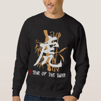 Chinese Zodiac Year of The Tiger Black Sweatshirt