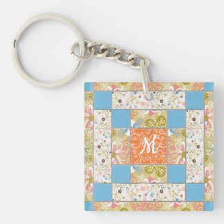 Chinmney Quilt Block Pattern Keychain