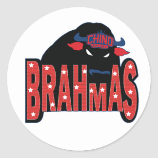 Chino Valley Brahmas Clear Sticker