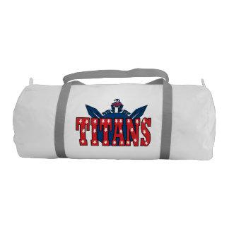 Chino Valley Titans White Duffle Bag Gym Duffel Bag