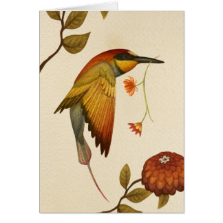Chinoiserie Birds - Blank Greeting Card