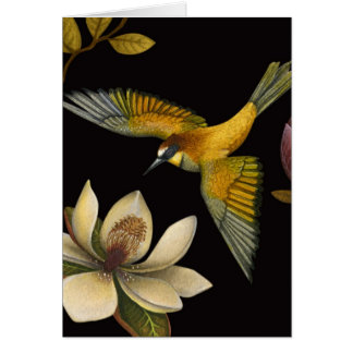 Chinoiserie Birds II - Greeting Card