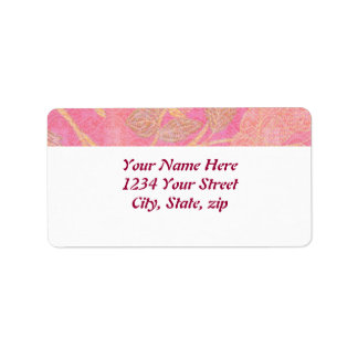 Chinoiserie custom address label