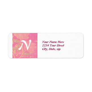 Chinoiserie custom return address label