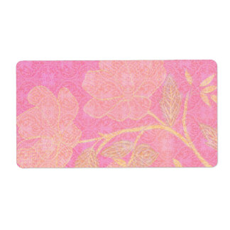 Chinoiserie decorative label shipping label
