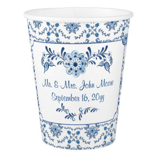 Chinoiserie Delft Blue Pattern•Custom