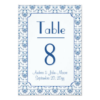 Chinoiserie Delft Blue Pattern•Custom Wedding 9 Cm X 13 Cm Invitation Card