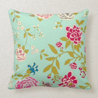 Chinoiserie Floral Design Mint Green