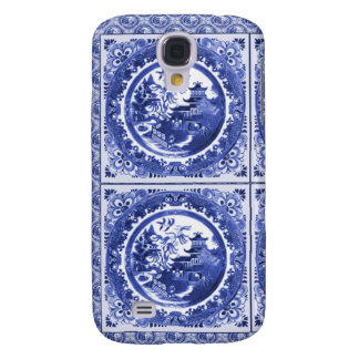 Chinoiserie in blue and white, willow pattern galaxy s4 case