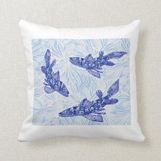 chinoiserie koi throw cushions