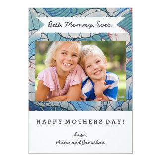 Chinoiserie Pastel Oriental Pink & Blue Floral 13 Cm X 18 Cm Invitation Card
