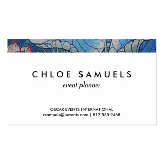 Chinoiserie Pastel Oriental Pink & Blue Floral Pack Of Standard Business Cards