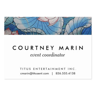 Chinoiserie Pastel Oriental Pink & Blue Floral Pack Of Chubby Business Cards