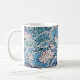 Chinoiserie Pastel Oriental Pink & Blue Floral Mug