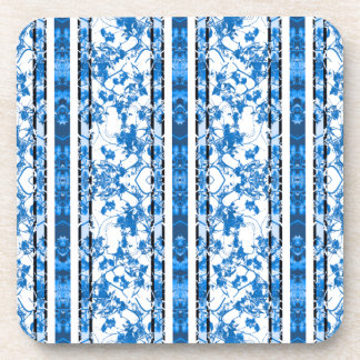 Chinoiserie Striped Floral Print Coaster