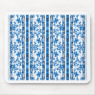 Chinoiserie Striped Floral Print Mouse Pad