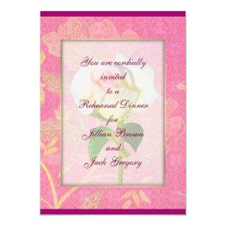 "Chinoiserie WEDDING Rehearsal Dinner 5"" X 7"" Invitation Card"