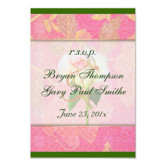 Chinoiserie Wedding RSVP 3.5x5 Paper Invitation Card