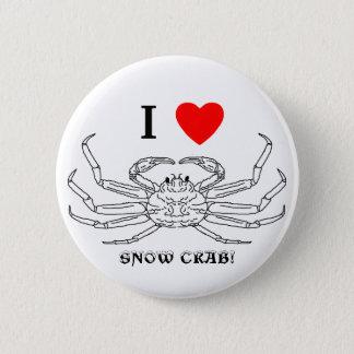 Chinonoecetes Opilio Crab Outline 6 Cm Round Badge
