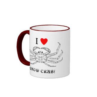 Chinonoecetes Opilio Crab Outline Ringer Mug