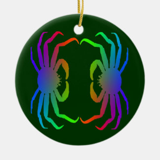 Chinonoecetes Opilio Crab Silhouette Christmas Ornament