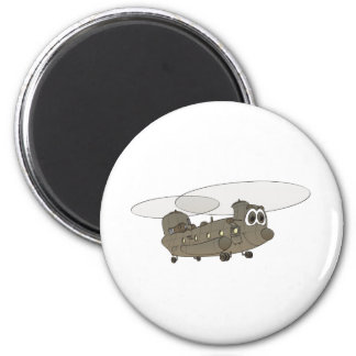 Chinook Helicopter Cartoon 6 Cm Round Magnet