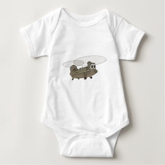Chinook Helicopter Cartoon Baby Bodysuit