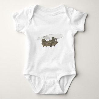 Chinook Helicopter Cartoon Baby Bodysuit