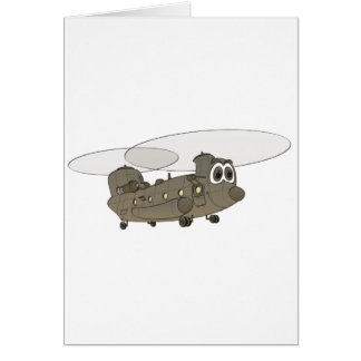 Chinook Helicopter Cartoon Card