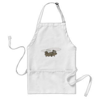 Chinook Helicopter Cartoon Standard Apron