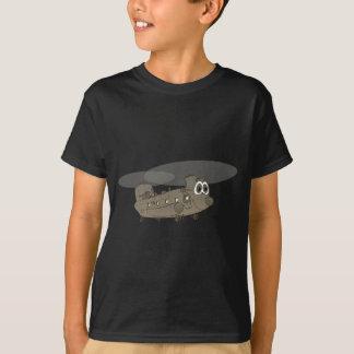 Chinook Helicopter Cartoon Tee Shirt