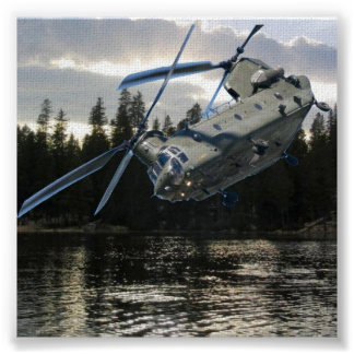 CHINOOK HELICOPTER POSTER