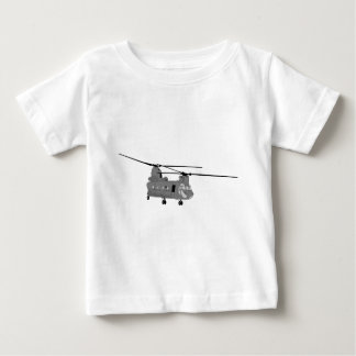 Chinook Helicopter Sihlouette Baby T-Shirt