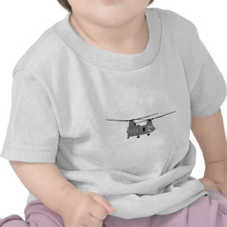 Chinook Helicopter Sihlouette T-shirt