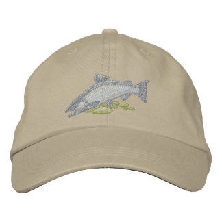 Chinook Salmon Embroidered Hat