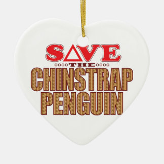 Chinstrap Penguin Save Christmas Ornament