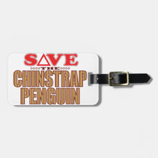 Chinstrap Penguin Save Luggage Tag