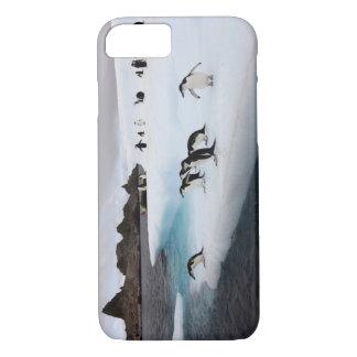 chinstrap penguins, Pygoscelis antarctica, 2 iPhone 8/7 Case