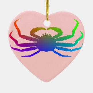 Chionoecetes Opilio Crab Silhouette Ceramic Heart Decoration